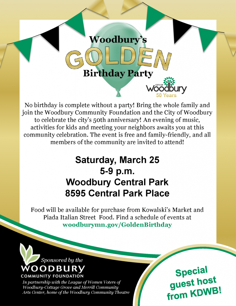 Golden Birthday Party Flyer - 8.5x11